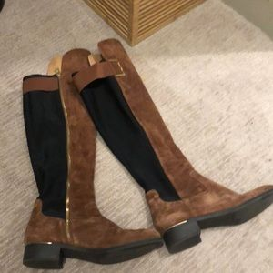 Calvin Klein Over-the-Knee Suede Riding Boots